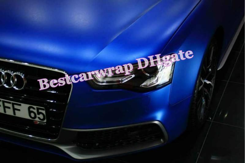Bleu métallisé Matt Chrome vinyle film pour voiture wrap Foile autocollants avec Air Release 1.52x20 m / Roll Livraison gratuite