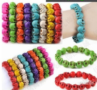 Wholesale Multicolor Turquoise Skull Strand Bracelets - Wholesale - Multicolor Turquoise Skull Strand Bracelets