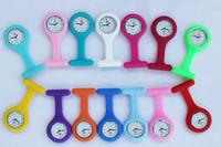 enfermera fob relojes envío gratis al por mayor-Envío gratis- Alta calidad 300 unids Multi colores enfermera broche Fob túnica reloj de silicona cubierta enfermera reloj dhl nave