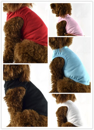 Wholesale Vest Colour - Free shipping plain solid pure colour dog dress(XS-XXL) dog fashion summer skirt puppy summer wear dog apparel 20cs lot