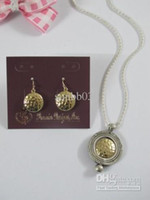 Wholesale Premier Wedding - New Fashion Jewelry Elegant Premier Designs Golden Hollow Necklace & Earrings Set Retail & Wholesale