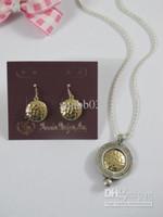 Wholesale Premier Necklaces - New Fashion Jewelry Elegant Premier Designs Golden Hollow Necklace & Earrings Set Retail & Wholesale