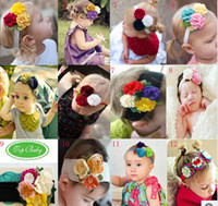 Wholesale Top Baby Headband Ornament - Wholesale - NEW TOP BABY headband girls cute designs Hair Accessories kids headwear infant hair ornaments cld