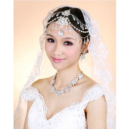 Wholesale Bridal Frontlet - Classic Crystal Rhinestone Frontlet Bridal Headbands Hair Jewelry Wedding Decoration CN125