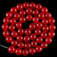 "Wholesale Ruby Beads Round - 30"" 8mm Red Ruby Gemstones Gems loose beads AAA+"