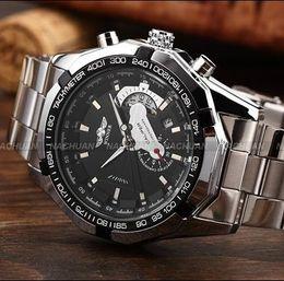 Wholesale Small Mechanical Watch - Reloj Hombre Marca Famosas Winner Skeleton Automatic Mechanical Watch Men Date Mechanical Watches Small Seconds Wristwatch