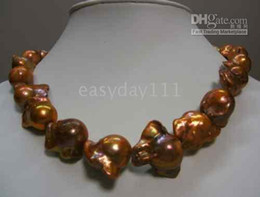 """Wholesale South Sea Huge Pearl - HUGE 18""""25MM SOUTH SEA NATURAL CHOCOLATE PEARLS NECKLACE 14k"""