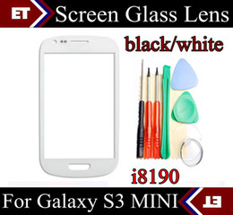 Wholesale S3 Mini Outer Screen - For Samsung Galaxy S3 MINI 8190 S3mini Glass Front Outer Screen Lens Black White JP8