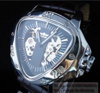 reloj mecánico esqueleto para hombre ganador al por mayor-¡nuevo! ganador de la marca Dinámico Invertido Triángulo Esqueleto Mecánico Automático Ejército Militar Reloj para Hombre