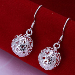 Wholesale Sterling Silver Earings Hollow Ball Jewelry E100 Brand New