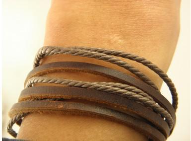 2017 Mode Bijoux Wrap Multicouche Véritable Bracelet En Cuir avec Tressé