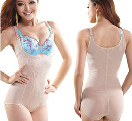 Wholesale Tummy Slimming Suits - Womens Tummy Control Underbust Slimming Shapewear Shaper Suit Body Control