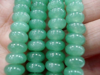 Wholesale Natural Emerald Gemstone Beads - 5x8mm Natural oval Emerald Loose Beads Gemstone 15""
