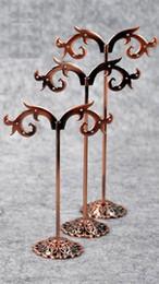 Wholesale Earring Racks - Jewelry holder earring holder earrings frame accessories display rack metal stainless steel earrings frame triangle set,3 pcs