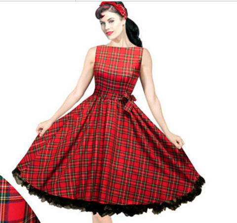 Womens Dresses 50s 60s Rockabilly Vintage Pinup Swing Prom Party
