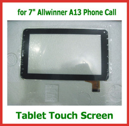 Wholesale Screen Replacement Tablet Pc - Replacement 7 inch Capacitive Touch Screen with Glass Digitizer for 7 inch 86V Allwinner A13 Phone Call Tablet PC Free Shipping