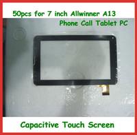 pc livre da tabuleta da polegada do transporte de dhl venda por atacado-50 pcs 7 polegada de tela de toque capacitivo de substituição com digitador de vidro para 7 polegada 86 V Allwinner A13 Chamada de Telefone Tablet PC DHL Frete Grátis