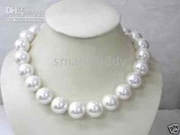 NOBLEST 16mm South Sea Shell white Pearls Necklace 18''