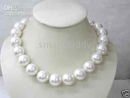 NOBLE 16mm South Sea Shell blanc collier de perles 18 ''