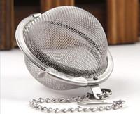metal çay infüzör topu toptan satış-100 adet Sıcak Paslanmaz Çelik Çay Pot Demlik Küre Örgü Çay Süzgeç Topu ücretsiz kargo