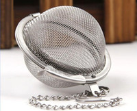 Wholesale Stainless Mesh Strainers - 100pc Hot Stainless Steel Tea Pot Infuser Sphere Mesh Tea Strainer Ball free shipping
