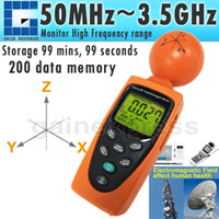 Wholesale Portable Radiation Meter - T95 Portable Handheld Digital 3-AXIS EMF RF Radiation ElectroSmog Power Isotropic Meter Tester 38mv ~ 11v m Range Made in Taiwan