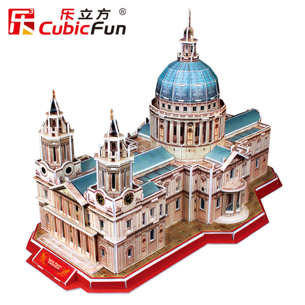 best selling HOT Deluxe 3D Puzzle - ST PAUL'S CATHEDRAL 107 Piece Cubic Fun Paper EPS Building Model Big DIY Toys