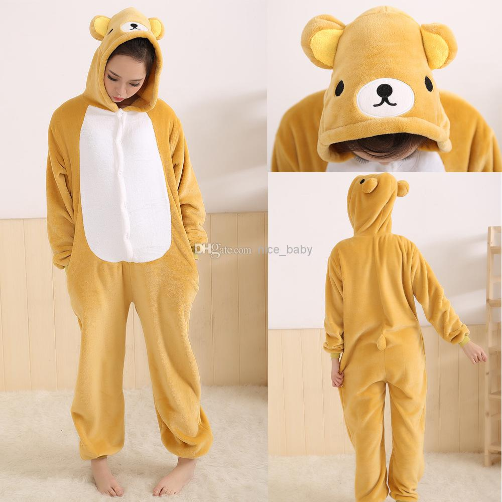 d47461e8c67 Rilakkuma Bear Nice baby New Fashion Unisex Kigurumi Pajamas Cosplay  Costumes Cartoon Animal Onesies Pyjamas Adult Onesie