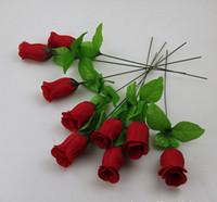 ingrosso peoni rossi-Commercio all'ingrosso - ROSSO 100P HOT 30 cm / 11,8 pollici di seta artificiale simulazione fiore peonia rosa Camelia matrimonio Natale