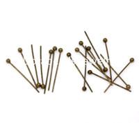 Wholesale Bronze Ball Head Pins - Free Shipping! 1000 Bronze Tone Ball Head Pins 20mmx0.5mm Findings (B10338)