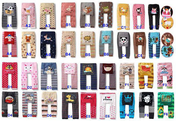 best selling Free Fedex DHL Ship Baby Animal Cartoon PP Pants Children Leggings Girls Tights Children's PP Pant 36Style Sizes 0-3T,180pair Lot