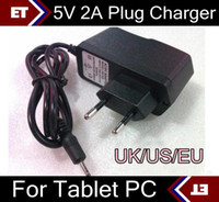 5V 2A DC 2.5mm EU US UK Plug Conversor Carregador Adaptador de alimentação para tablet PC Allwinner A23 A13 Q88 TC2