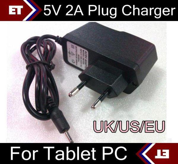 5 V 2A DC 2.5mm AB ABD İNGILTERE Tak Dönüştürücü Şarj Güç Adaptörü tablet PC için Allwinner A23 A13 Q88 TC2