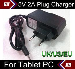 Wholesale Charger A13 Eu - DHL 100X 5V 2A EU US UK Plug Converter Charger Power Adapter for tablet PC Allwinner A13 A23 Q88 TC2