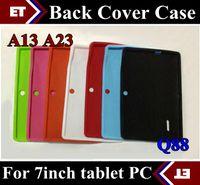 a13 mittlere tafeln großhandel-Bunte Q88 Silikon Gummi zurück Fall für 7 Zoll Allwinner A13 Q88 MID Android Tablet PC TB1