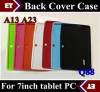 orta android tablet silikon kılıf toptan satış-Renkli Q88 Silikon Kauçuk Case Arka 7 inç Allwinner A13 Q88 ORTA Android Tablet PC TB1