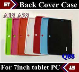 tablet pc mid android red Canada - 10PCS Colorful Q88 Silicone Rubber Back Case for 7 inch Allwinner A13 Q88 MID Android Tablet PC TB1