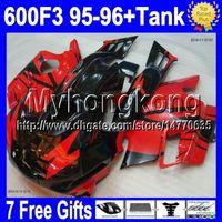 honda cbr bodywork 2018 - 7gifts Free Custom Red black Fairing For HONDA ! CBR 600 F3 95-96 1995 1996 CBR600F3 70MY1791 CBR 600F3 95 96 Red CBR600 F3 FS Bodywork