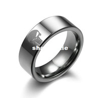 Wholesale Super Skull Rings - Wholesale - Free Shipping Super Hero Skull The Punisher Stainless Steel Ring Necklace Pendant For Boy Man