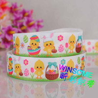 "Wholesale Wholesale Easter Grosgrain Ribbon - 10yards 7 8"" (22mm)Easter day gifts printed ribbon, DIY polyester grosgrain party ribbon"