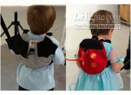 Wholesale Toddler Harness Bat - New Fashion Ladybug Baby Bat harness belt Toddler Backpack Bag Baby Walkers Baby backpack walking band