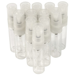 Wholesale Aromatic Scent - 20PCS LOT 5ml Atomizer Refillable Pump Spray Bottles Makeup Bottle Perfume Bottle Glass Bottle Aromatic Water Bottle Empty scent Bottle