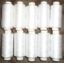 Textile Rolls NZ - Tex 27 Tickets 120 Japan size 60 402 sewing thread small roll white 400 yards sewing line home textiles sewing thread