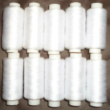 Tex 27/Tickets 120/Japan size 60 402 sewing thread small roll white 400 yards sewing line home textiles sewing thread