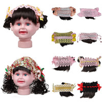 Wholesale Korean Baby Wig - Baby Girls Korean Headband Lace Wig Hair Band Headwear Infant Hair Ornaments Hair Accessorie For Baby 2-7 Years DRA*1