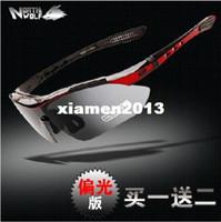 bisiklet sürme gözlükleri toptan satış-Kuzey Kurt Bisiklet Güneş Gözlüğü Yol Bisikleti Gözlük Polarize Sürme Gözlük Miyopi Anti-rüzgar Gözlük 5 Lens