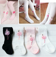Wholesale Dance Costumes Leggings - Hot Sale New Girls Ballet Tights 2-12Y For Dancing Party Costume Kids Socks Black Pink Toddler Leggings Accept Color & Size Choose Melee