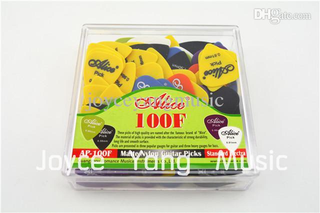 Orijinal Paketi Standart pena ile Alice AP-100F Kumlama Mat Naylon Akustik Elektro Gitar Seçtikleri sürü