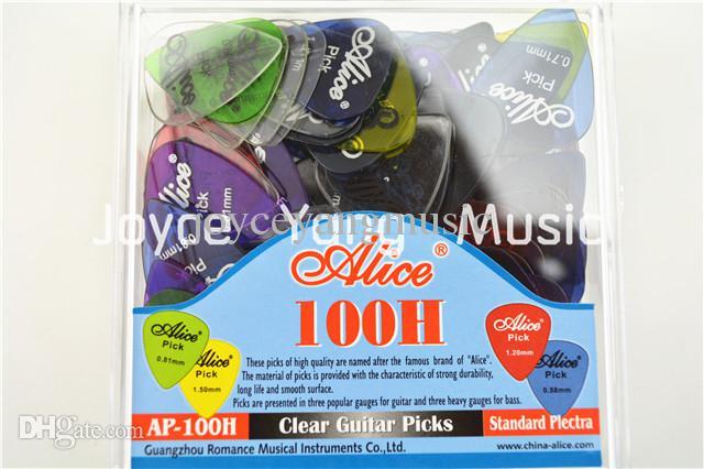 Massor av Alice AP-100H Rensa transparenta akustiska elektriska gitarrvickningar med originalpaketstandardplectrums