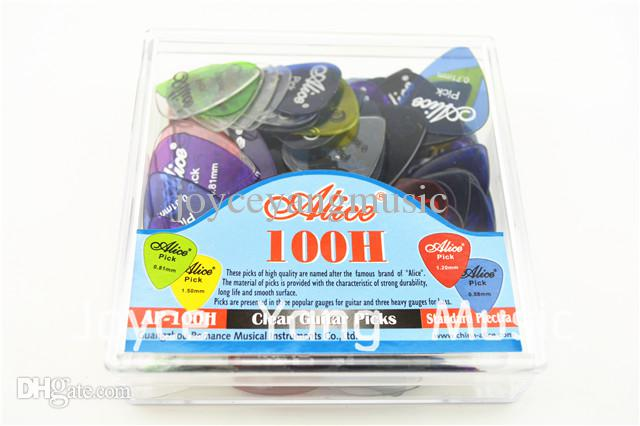 of Alice AP-100H Clear Transparent Acoustic Electric Guitar Picks With Original Package Standard Plectrums
